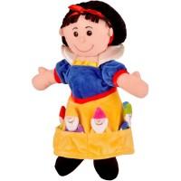 Set marionete Alba ca Zapada si cei 7 Pitici Fiesta Crafts, 9 x 13 cm, 3 ani+