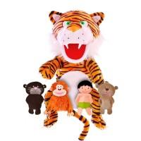 Set 5 Marionete Cartea Junglei Fiesta Crafts, 3 ani+