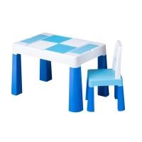 Set masuta cu scaun Multifun Lego Tega, 73 x 47 x 49 cm, plastic, 3 ani+, Albastru