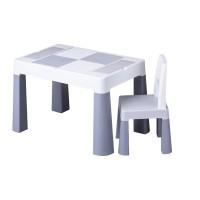 Set masuta cu scaun Multifun Lego Tega, 73 x 47 x 49 cm, plastic, 3 ani+, Gri/Alb