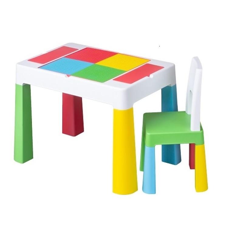 Set masuta cu scaun Multifun Lego Tega, 73 x 47 x 49 cm, plastic, 3 ani+, Multicolor 2021 shopu.ro