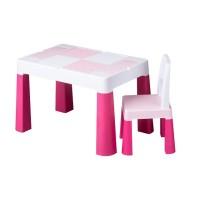 Set masuta cu scaun Multifun Lego Tega, 73 x 47 x 49 cm, plastic, 3 ani+, Roz