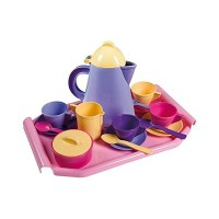 Set mic dejun cu tava, Androni Giocatolli, 18 piese, 33 x 22 x 8 cm, plastic
