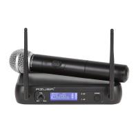 Set microfon VHF Azusa, modulatie FM, antena integrata
