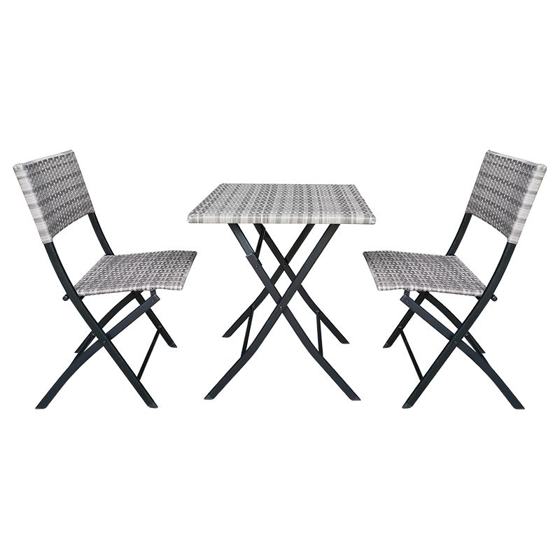 Set mobilier pentru terasa Andy Teesa, 2 locuri, maxim 120 kg, Gri 2021 shopu.ro
