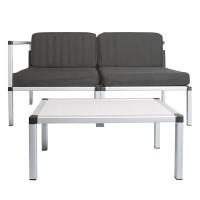 Set mobilier pentru terasa/gradina, maxim 150 kg, 4 perne incluse