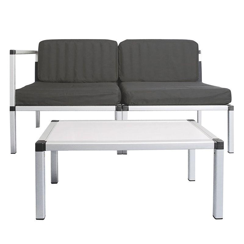Set mobilier pentru terasa/gradina, maxim 150 kg, 4 perne incluse shopu.ro