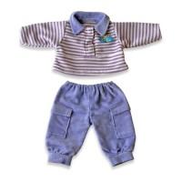 Set pantaloni si bluza polo pentru papusi Miniland, 21 cm