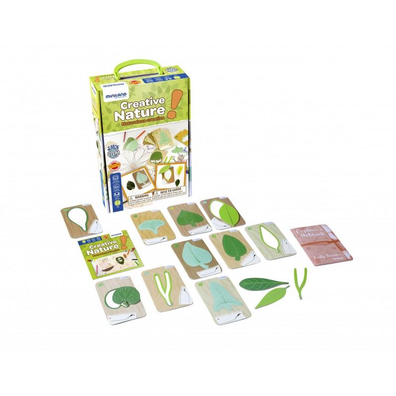 Set pentru creatie Natura Miniland, 8 x 14 cm, 10 carduri incluse 2021 shopu.ro