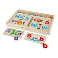 Set pentru invatarea literelor Melissa and Doug, 52 litere