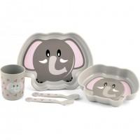Set pentru masa 5 piese Elefant Lulabi, nu contin BPA