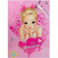 Set pentru scrisori Top Model Depesche, 20 x 27 cm, plicuri parfumate, 3 ani+, Roz