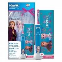Periuta electrica Oral-B Vitality, model Frozen, caseta calatorie inclusa