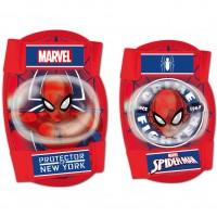 Set protectie Cotiere Genunchiere Spiderman Seven, 3 - 8 ani, Rosu