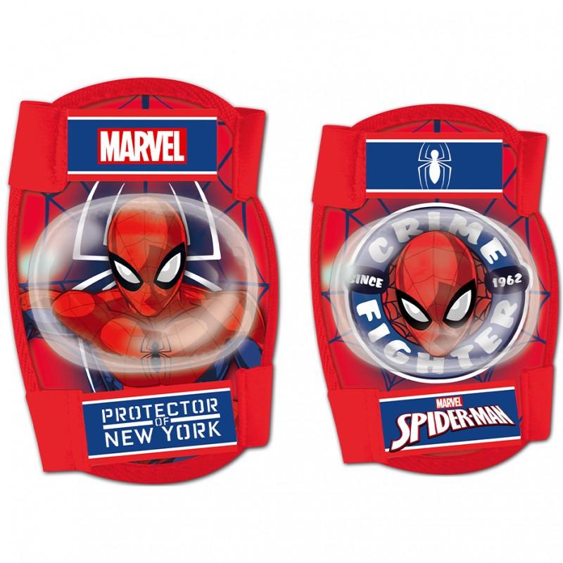 Set protectie Cotiere Genunchiere Spiderman Seven, 3 - 8 ani, Rosu 2021 shopu.ro