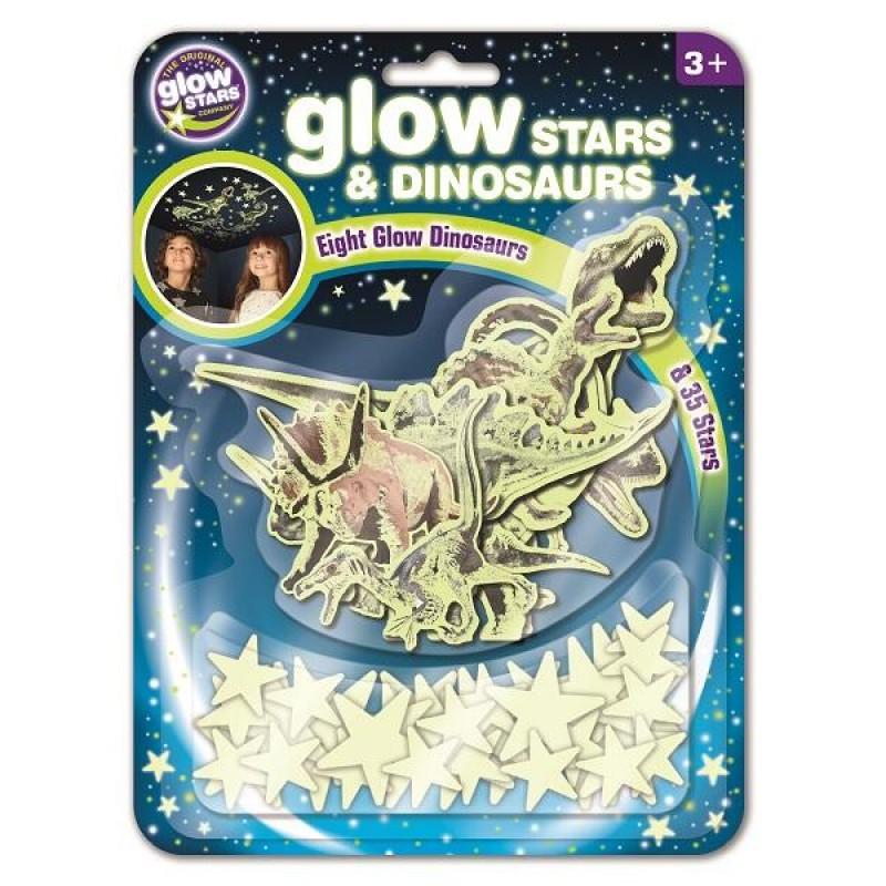 Set dinozauri si stele Brainstorm, reflectorizant, 3 ani+ 2021 shopu.ro