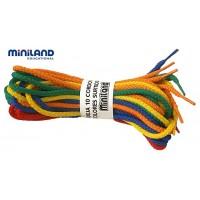 Set sireturi colorate Miniland, 10 bucati