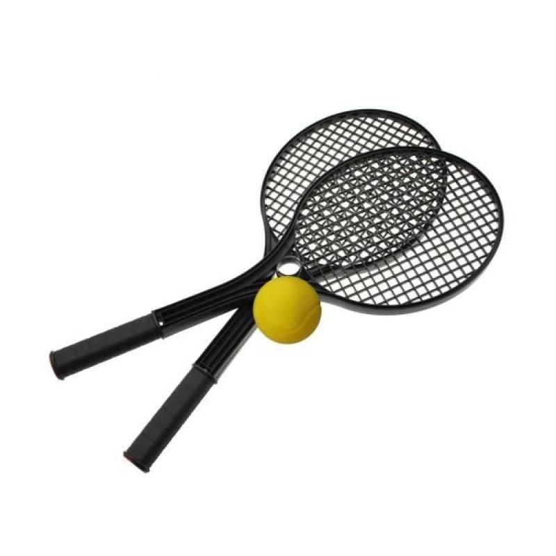 Set pentru soft tenis Value DHS, PVC, minge inclusa, Negru 2021 shopu.ro