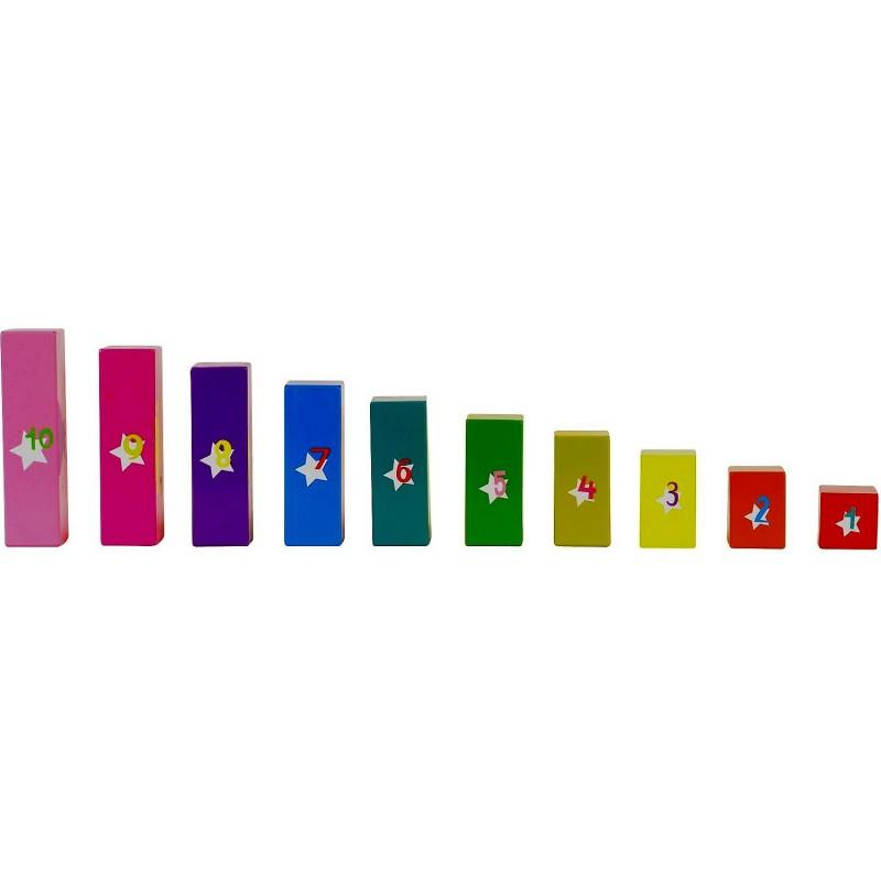 Set sorteaza si scutura Sort N Shake Fiesta Crafts, 10 cuburi din lemn, 3 jocuri diferite, 1 an+ 2021 shopu.ro