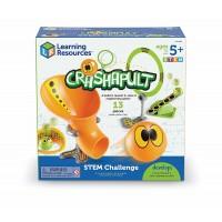 Set STEM joc interactiv Catapulta vesela Learning Resources, 5 carduri cu provocari