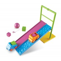 Set STEM Forta si miscare Learning Resources, 2 piste, 2 masinute, 10 carduri cu activitati