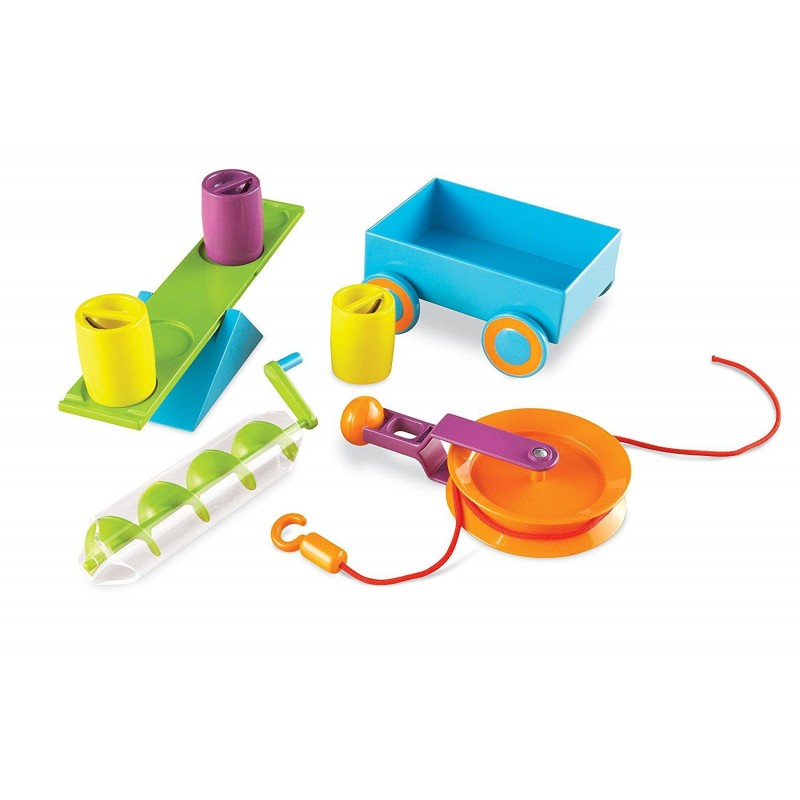 Set STEM Mecanisme simple Learning Resources, 6 dispozitive, 10 carduri, 5 - 9 ani 2021 shopu.ro