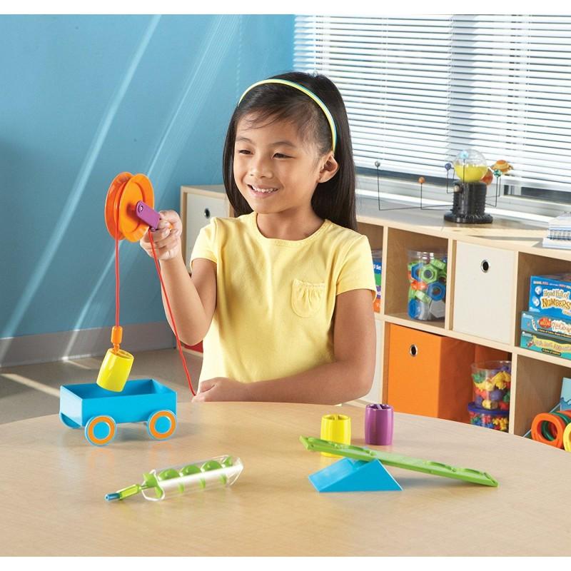 Set STEM Mecanisme simple Learning Resources, 6 dispozitive, 10 carduri, 5 - 9 ani