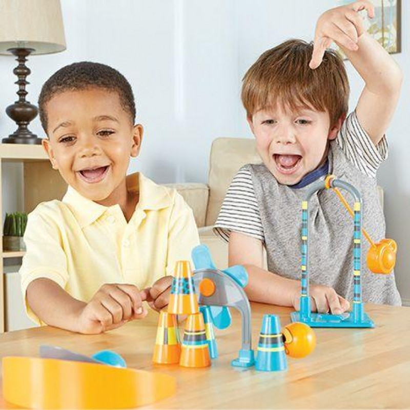 Set STEM joc interactiv Pendulonium Learning Resources, pendul, 6 conuri, 2 bile