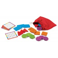 Set tactil Texturi si Forme Learning Resources, 10 carduri, 3 - 7 ani