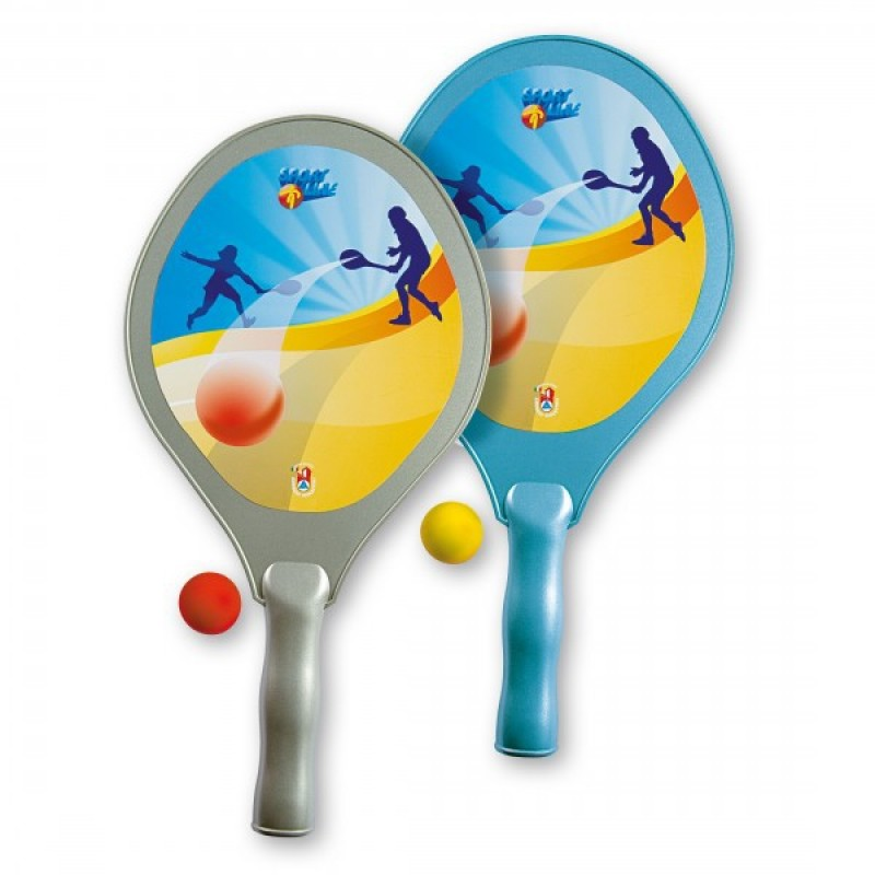 Set tenis plaja Super, Androni Giocattoli, 42 cm 2021 shopu.ro