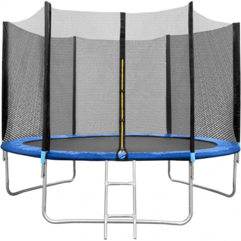 Trambulina cu plasa In One, 180 cm, scarita inclusa, maxim 120 kg, 3 ani+, Albastru 2021 shopu.ro