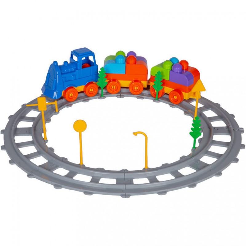 Set Tren Magic Blocks Ucar Toys, 43 piese 2021 shopu.ro