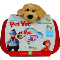 Set trusa veterinar cu catelus de plus Ucar Toys UC137, 10 piese