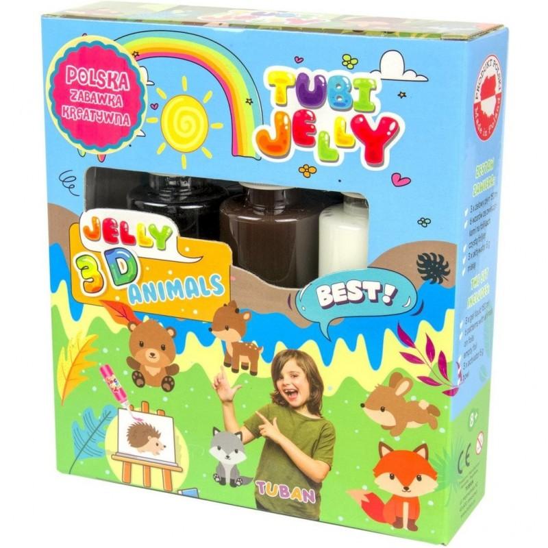 Set Tubi Jelly Animale Tuban, 3 culori, 450 ml, 8 ani+, Multicolor 2021 shopu.ro