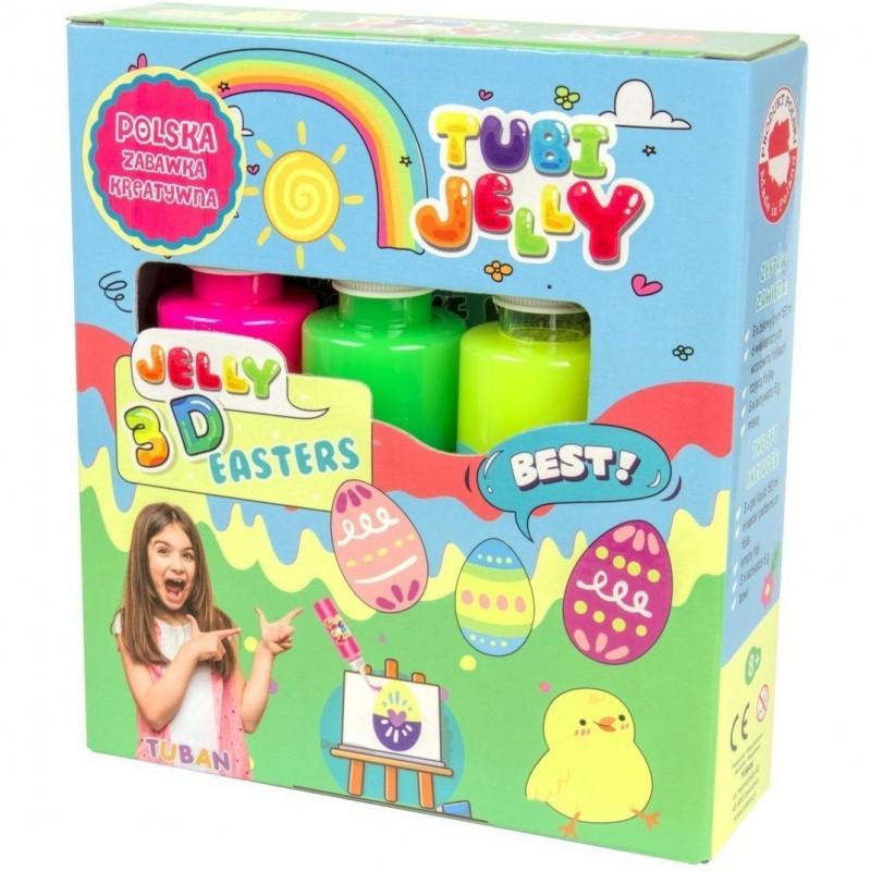 Set Tubi Jelly Easter Tuban, 3 culori, 450 ml, 8 ani+, Multicolor 2021 shopu.ro