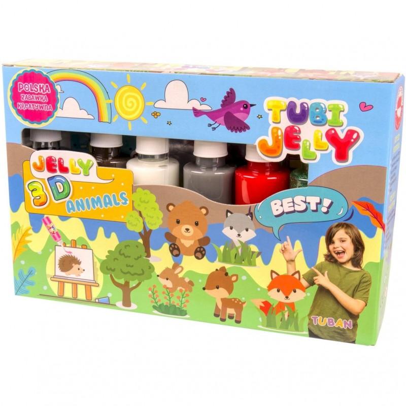 Set Tubi Jelly Animale Tuban, 6 culori, 900 ml, 8 ani+, Multicolor 2021 shopu.ro