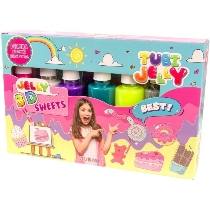 Set Tubi Jelly Dulciuri Tuban, 6 culori, 900 ml, 8 ani+, Multicolor 2021 shopu.ro