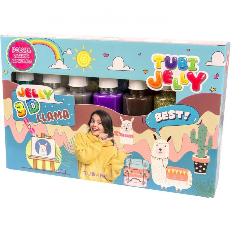 Set Tubi Jelly Lama Tuban, 6 culori, 900 ml, 8 ani+, Multicolor 2021 shopu.ro
