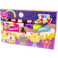 Set Tubi Jelly Monstri Tuban, 6 culori, 900 ml, 8 ani+, Multicolor