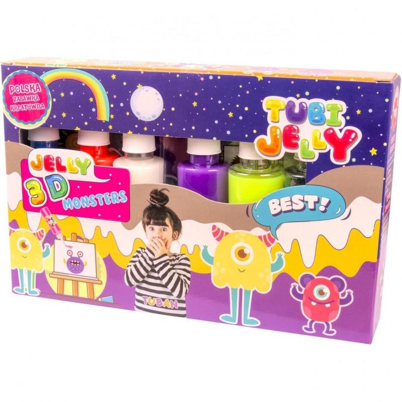 Set Tubi Jelly Monstri Tuban, 6 culori, 900 ml, 8 ani+, Multicolor 2021 shopu.ro