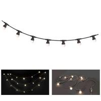 Sir iluminat festiv, lungime 10 m, 20 becuri LED, alb cald