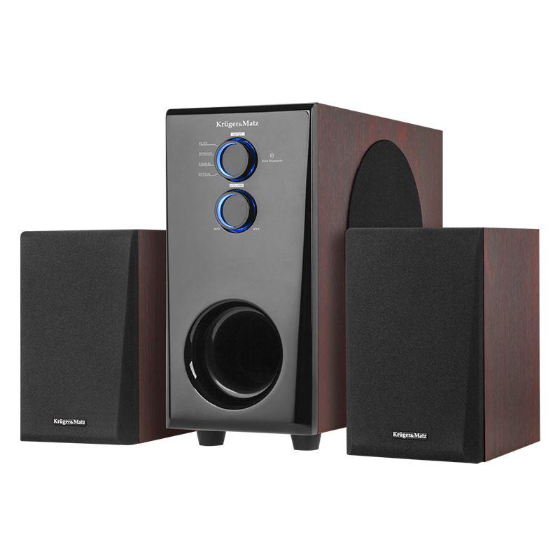 Sistem boxe Spirit 2.1 Kruger & Matz, Bluetooth, AUX, RCA, 60W 2021 shopu.ro