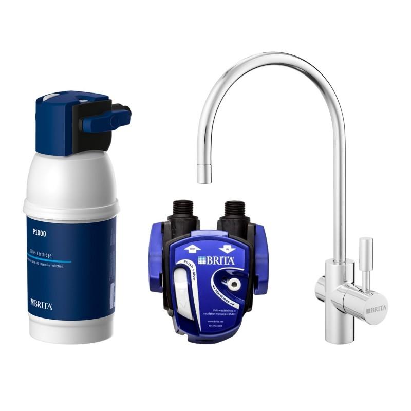 Sistem de filtrat apa Brita My Pure P1, indicator LED, suport flexibil, 3 benzi active, dispenser, accesorii incluse 2021 shopu.ro