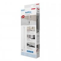 Sistem de fixare pe perete pentru porti de siguranta WallFlex Reer, 87 x 5 x 2 cm, lemn alb