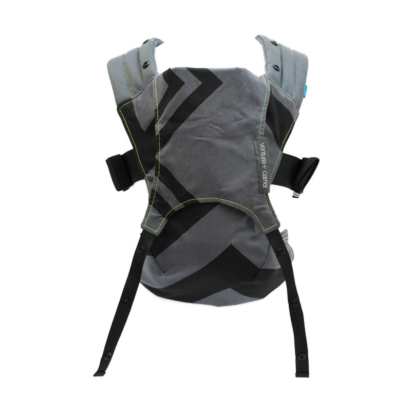 Sistem de purtare Venture Charcoal Grey/Black Zigag, 0-24 luni, 3.6–15.9 kg 2021 shopu.ro
