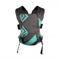 Marsupiu Venture+ Zigzag We Made Me, suporta maxim 15 kg, Mint/Charcoal