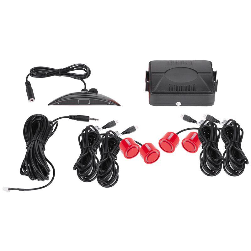 Sistem de parcare URZ0200B, 4 senzori, rosu