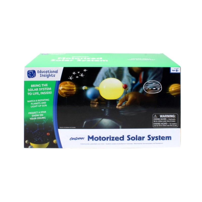 Sistem solar motorizat Educational Insights, planetele se misca cu 2 viteze diferite, 8 - 12 ani