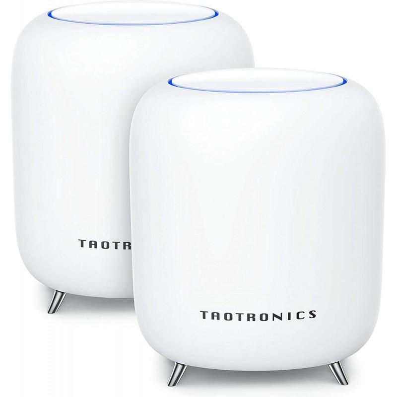 Sistem Wi-Fi Mesh Taotronics Tri-Band, AC3000, Gigabit, 3Gbps, 802.11 ac, USB 3.0, 2 bucati, Alb 2021 shopu.ro