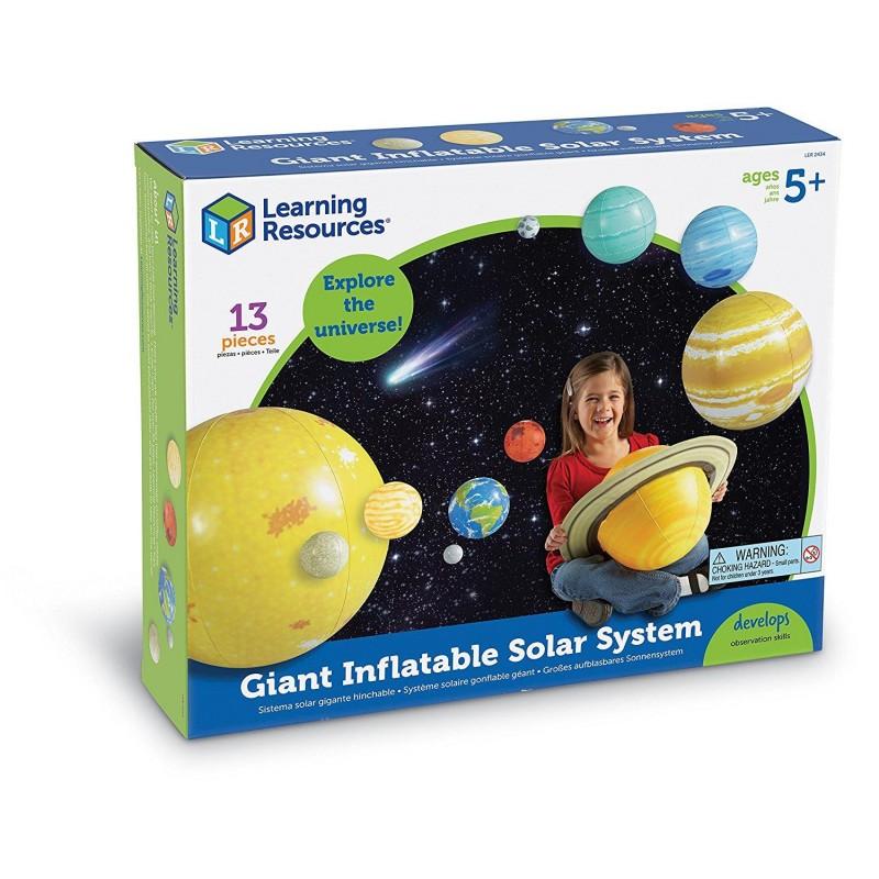 Sistemul solar gonflabil Learning Resources, material foarte rezistent, 5 - 9 ani 2021 shopu.ro